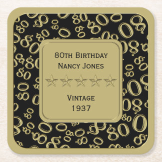het 80ste Thema van de Partij van de Verjaardag Vierkanten Viltjes