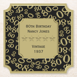het 80ste Thema van de Partij van de Verjaardag Viltjes