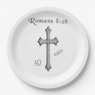 Het 8:28t-shirts van Romeinen Papieren Bordjes