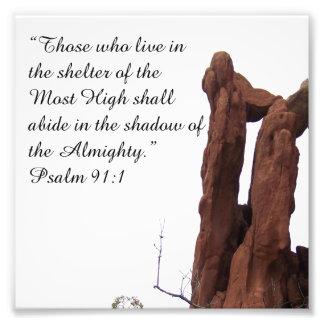 Het 91:1 die van de Psalm van de Vorming van de ro Foto Afdruk