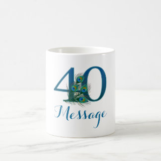 het aangepaste 40ste Jubileum van het Huwelijk Koffiemok