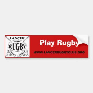 Het Aangepaste Rugby van het spel - Bumpersticker