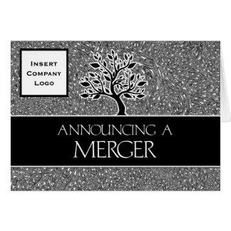 Het aankondigen van een Van de Bedrijfs fusie Logo Wenskaart