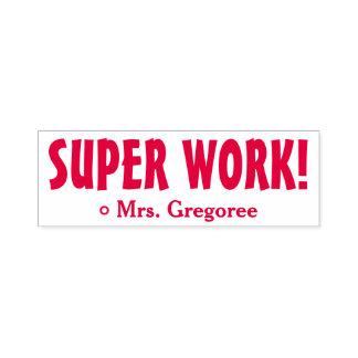 """Het aanmoedigen van het """"SUPER WERK!"""" Het merken Zelfinktende Stempel"""
