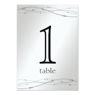 Het Aantal van de Lijst van het Jubileum van het 12,7x17,8 Uitnodiging Kaart