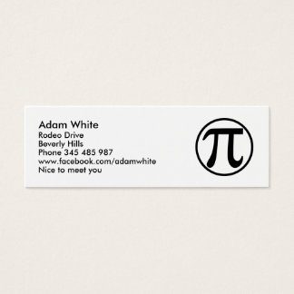 Het aantal van pi mini visitekaartjes