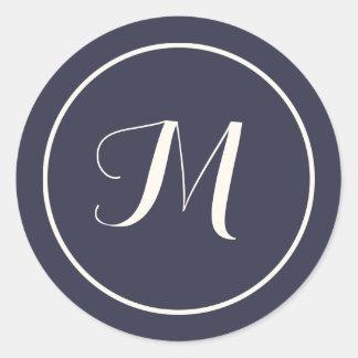 Het Aanvankelijke Monogram van de Kalligrafie van Ronde Sticker