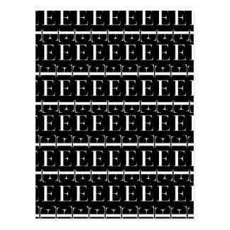 Het Aanvankelijke Patroon van het monogram, Brief Briefkaart