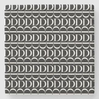 Het Aanvankelijke Patroon van het monogram, Brief Stenen Onderzetter