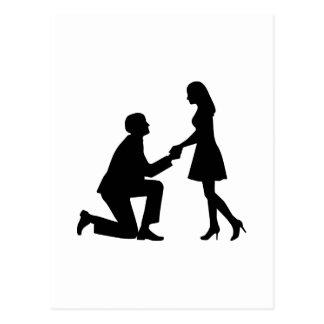 Het Aanzoek van het huwelijk Wens Kaarten