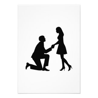 Het Aanzoek van het huwelijk Persoonlijke Aankondigingen