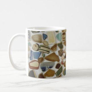 Het aardewerkmok van het strand koffiemok