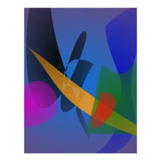 Het Abstracte Art van de emotie Folder Ontwerp