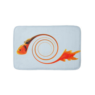 Het Abstracte Art. van de goudvis Badmat