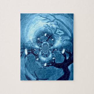 Het Abstracte art. van de griezelige Uilen van de Puzzel