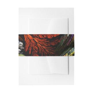 Het Abstracte Art. van de Harmonie van de kleur Uitnodigingen Wikkel