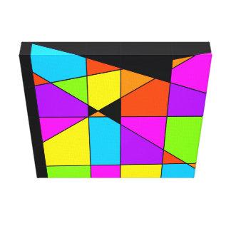 Het Abstracte Art. van Tetris Stretched Canvas Prints