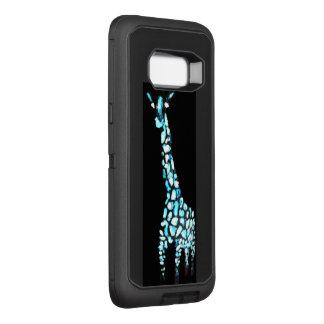 Het abstracte Blauwe Grappige Dier van de Giraf OtterBox Defender Samsung Galaxy S8+ Hoesje