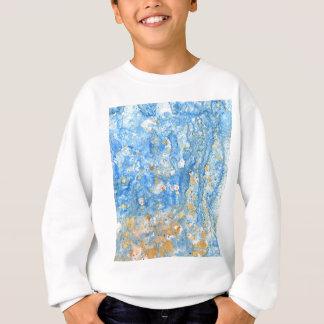 Het abstracte blauwe schilderen trui