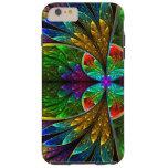 Het abstracte BloemenPatroon van het iPhone 6 Plus Tough Hoesje