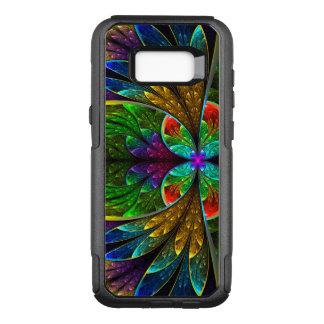 Het abstracte BloemenPatroon van het OtterBox Commuter Samsung Galaxy S8+ Hoesje