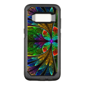 Het abstracte BloemenPatroon van het OtterBox Commuter Samsung Galaxy S8 Hoesje