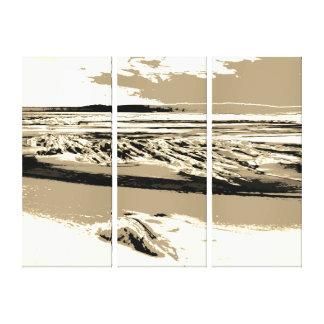 """Het """"abstracte canvas van het Strand """""""