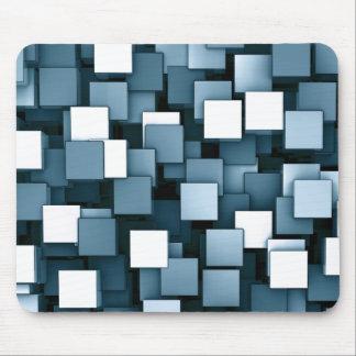 Het abstracte Futuristische Blauwe Patroon van Muismat