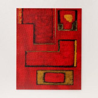 Het abstracte Geometrische Schilderen van de Puzzel