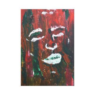 het abstracte geweven gezicht schilderen canvas afdrukken