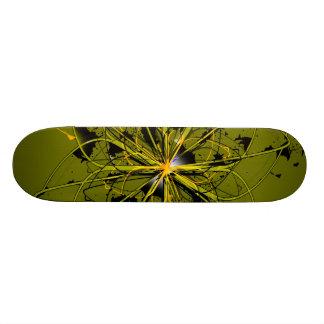 Het abstracte Gouden Dek van het Skateboard van