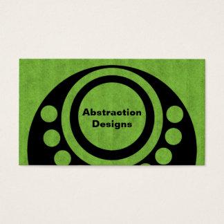 Het abstracte Heldergroene Visitekaartje van Visitekaartjes