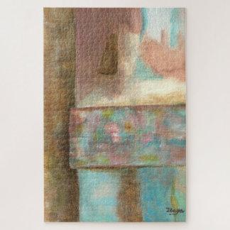 Het abstracte het Schilderen van de Kunst Venster Legpuzzel