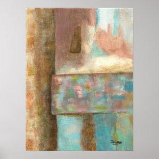 Het abstracte het Schilderen van de Kunst Venster Poster