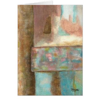 Het abstracte het Schilderen van de Pastelkleur Briefkaarten 0