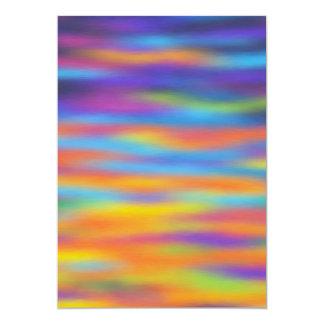 Het abstracte Kunstwerk van de Hemel van de 12,7x17,8 Uitnodiging Kaart