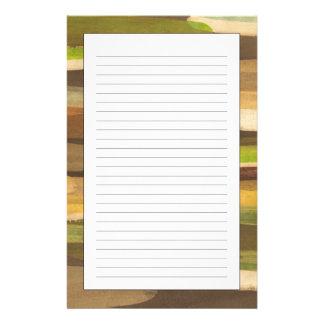 Het abstracte Landschap van de Toon van de Aarde Briefpapier