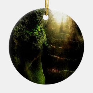Het abstracte Licht van de Treden van de Kat van Rond Keramisch Ornament