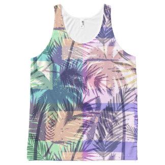 Het abstracte mouwloos onderhemd van het Patroon All-Over-Print Tank Top
