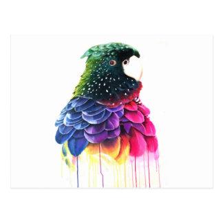 Het Abstracte Olieverfschilderij van de Vogel van Briefkaart