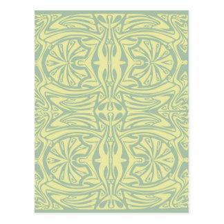 Het abstracte ontwerp van de Jugendstil Briefkaart