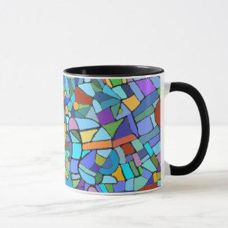 Het abstracte Ontwerp van het Glas van de Vlek Mok