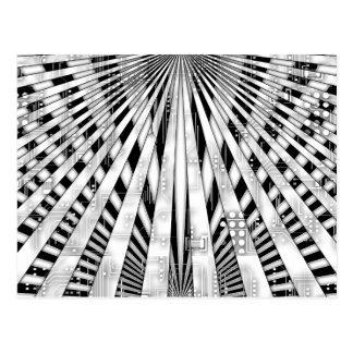Het abstracte ontwerp van het Schakelschema en van Briefkaart