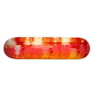 Het abstracte Oranje Dek van het Schaats van Skateboards