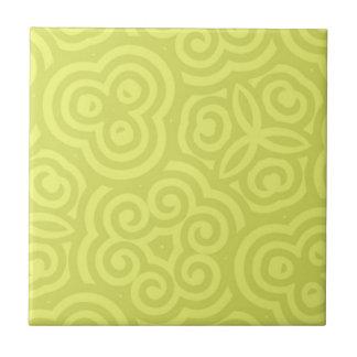 Het abstracte patroon van Chartreuse Tegeltje