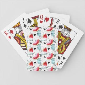 Het abstracte Patroon van de Watermeloen Speelkaarten