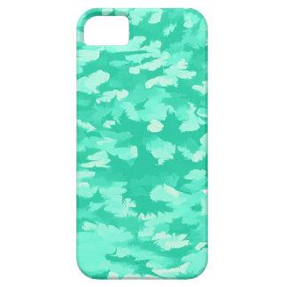 Het Abstracte Pop-art Aqua van het gebladerte Barely There iPhone 5 Hoesje