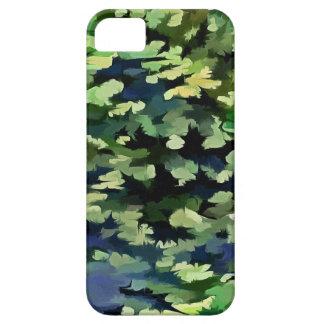 Het Abstracte Pop-art van het gebladerte in Groen Barely There iPhone 5 Hoesje