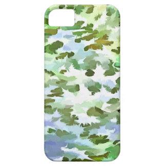 Het Abstracte Pop-art van het gebladerte in Wit Barely There iPhone 5 Hoesje