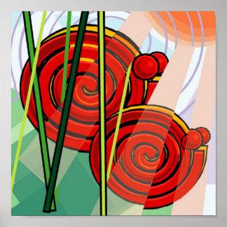 Het abstracte Poster 15x15 van de Slak